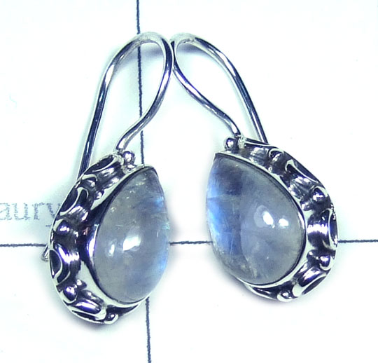Beautiful Rainbow Moonstone Earring-w2ec004