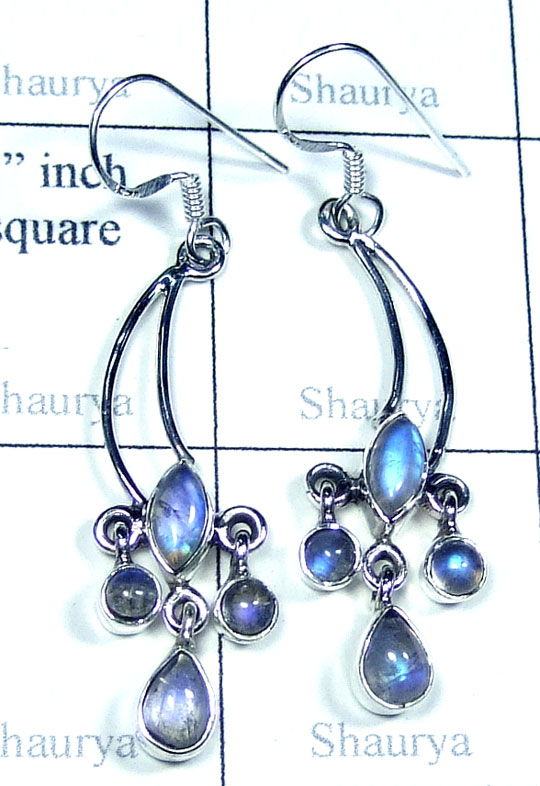 Silver Rainbow twisted Earring-w2edbe011