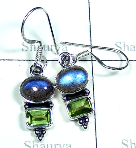 Cut & Cab gemstone Earring-w2ne013
