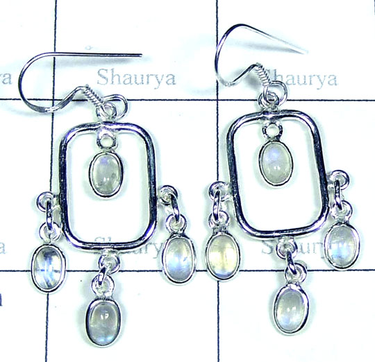 Rainbow Moonstone Earring-w2ne070