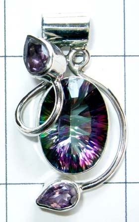 Oxodized Sterling silver Pendant-w9p237