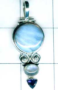 Oxodized Sterling silver Pendant-w9p292