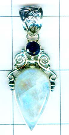 Oxodized Sterling silver Pendant-w9p303