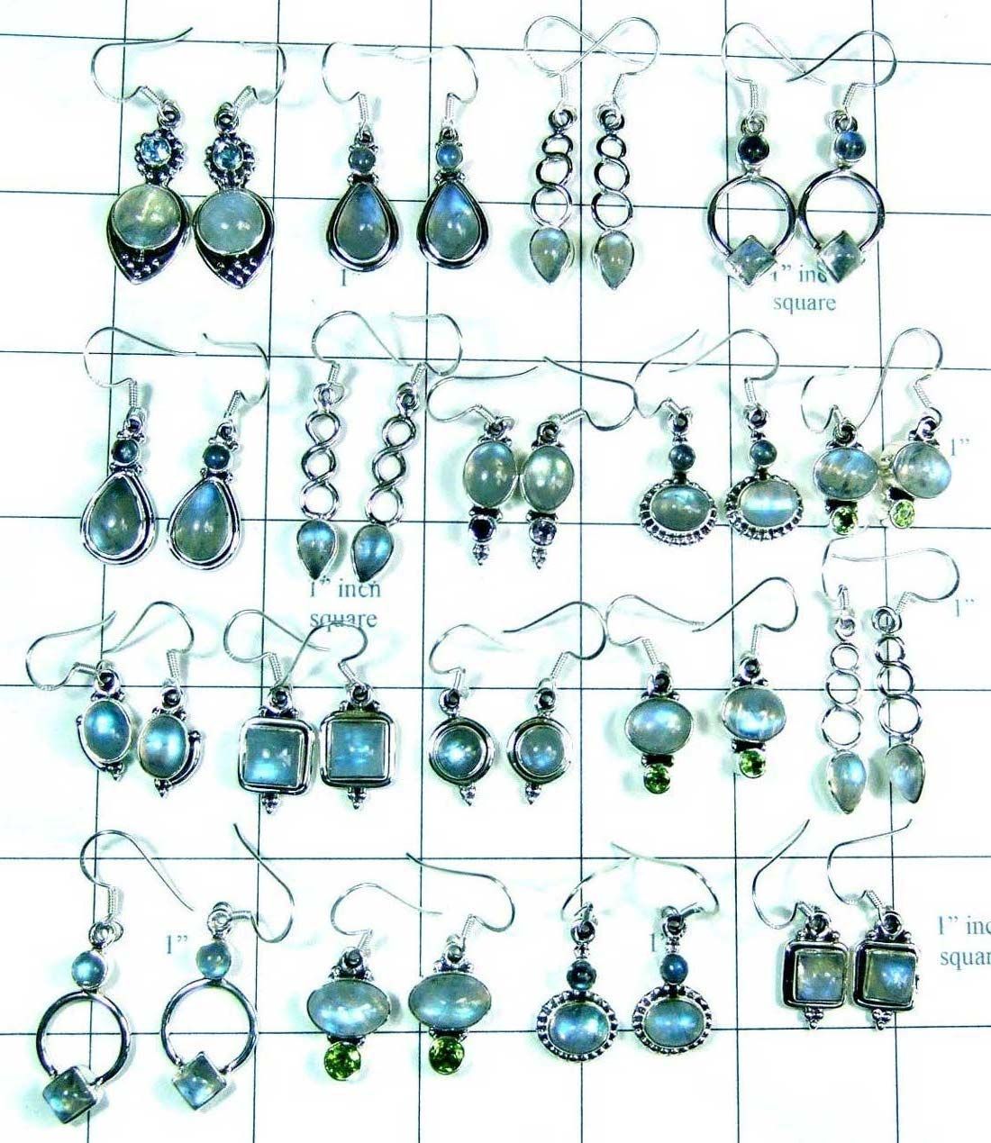 Semiprecious gems Earrings-wljse006