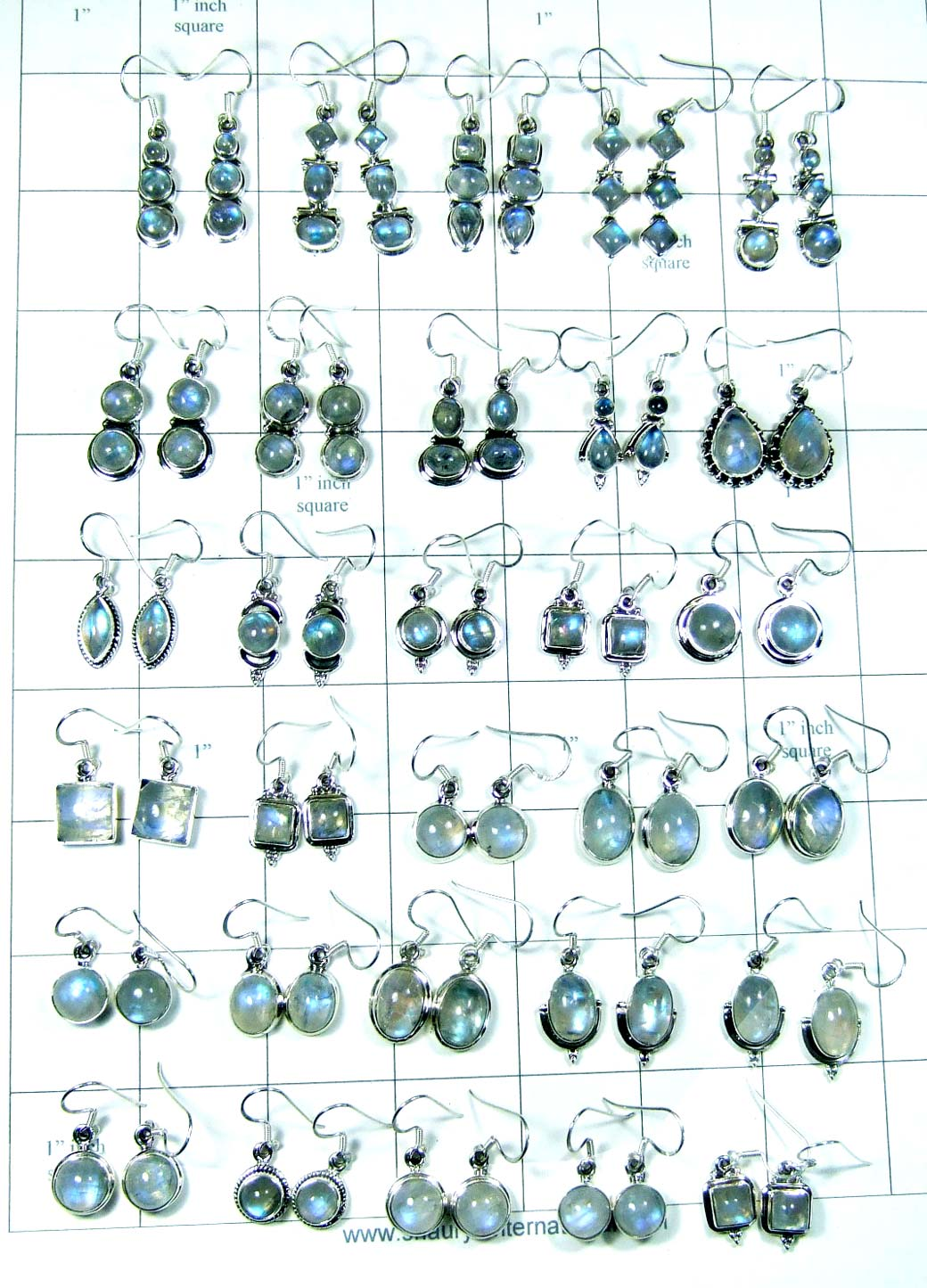Sterling silver wholesale 250 gram Earrings India-wljse009
