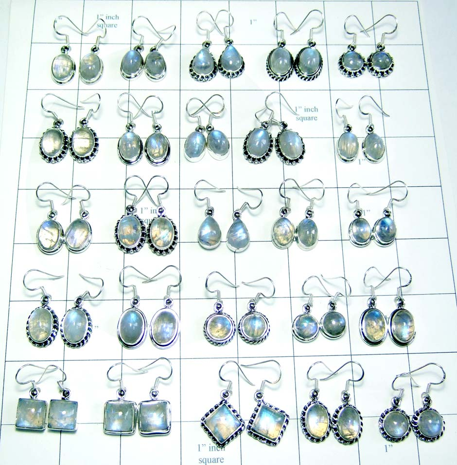 Wholesale Rainbow Moonstone Earrings Jaipur-wljse010