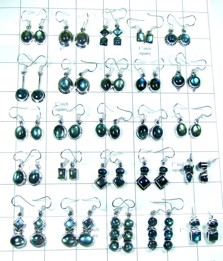 Wholesale semiprecious gems Earring-wljse011