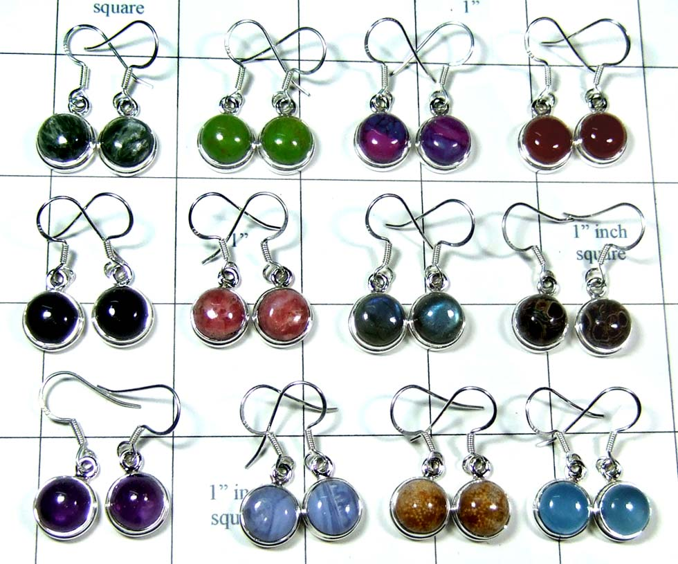 Wholesale silver color gem Earrings-wljse015