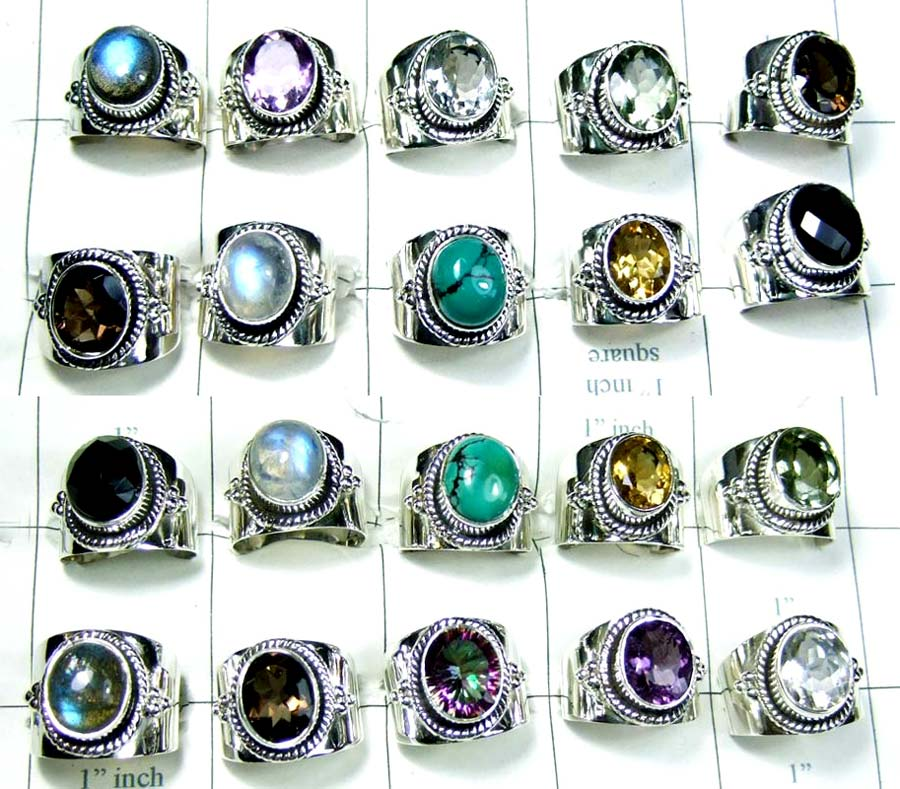 Sterling silver Wholesale 250g Rings Lot-wljsr020