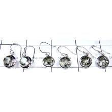 Cut Green Amethyst Stone Earrings lot-SS6YE016
