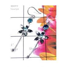 Exclusive Designer silver Blue Topaz Earring-BTE020