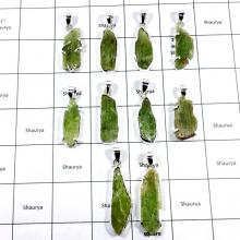 CBP906-10 Pcs. Green Kyanite Gemstone 925 Sterling Silver Wholesale Pendants