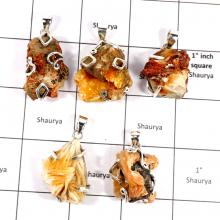 CBP932-5 Pcs. Vanadinite Druzy Gemstone Company Wholesale Fashion Pendants 925 Sterling Silver