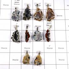CBP937-10 Pcs. Cavity Druzy Gemstone Wholesale Pendant 925 Sterling Silver