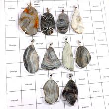CBP948-10 Pcs. Wholesale Lot Gemstone Desert Druzy 925 Sterling Silver Pendants