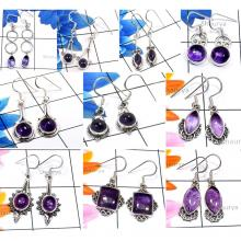 CBP962-10 Pcs. Amethyst Cab Gemstone 925 Sterling Silver Designer Handmade Earrings