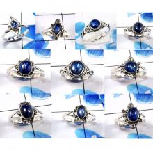 CBP986-10 Pcs. Gorgeous Blue Kyanite 925 Sterling Silver Designer Wholesale Rings