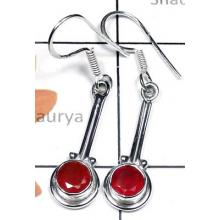 Faceted Carnelian gems silver Earring-CLE002