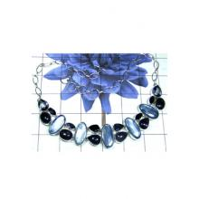 Royal sterling silver cluster Necklace-CLN005