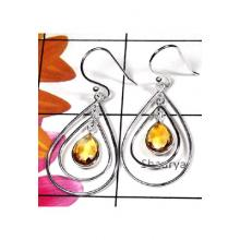 Sterling silver gems hanging Earring-CTE008