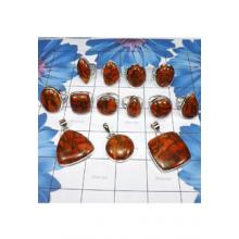 WSL981-Geniune Copper Red Turquoise Gemstone 100 gram Wholesale Lot 13 Pcs