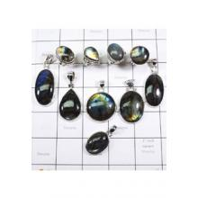 WSL977-Natural Fire Labradorite 100 gram Combo Lot 925 Sterling Silver