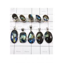 WSL972-100 gram Wholesale Natural Fire Labradorite Combo Lot Direct Factory Made 10 Pcs