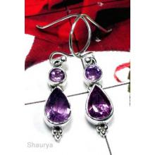 Faceted Amethyst Earring-IAE006