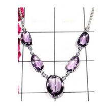 Faceted Amethyst Bejal Necklace-IBN004