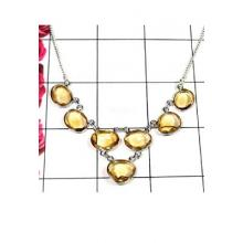 925 silver with Citrine gems Bejal Necklace-IBN006