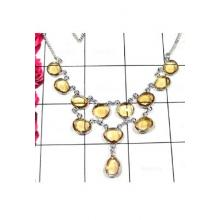 Sterling silver Citrine Bejal Necklace-IBN007
