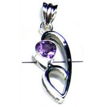 Small sterling silver Amethyst Pendant-ICP017