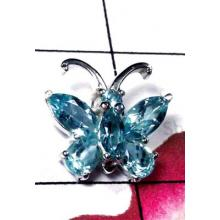 Exclusive Blue Topaz Butterfly Pendant-ICP024