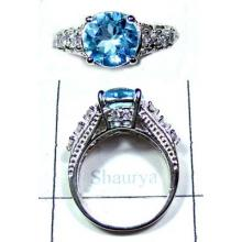 Beautiful Blue Topaz silver Ring-ICR037
