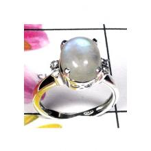 Beautiful Moonstone gems with silver casting Ring-ICR043