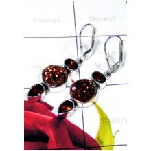 Exclusive silver Titanium Window Drusy Earrings-IDE003