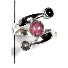 Tourmaline cabochon Ring-ITRR004