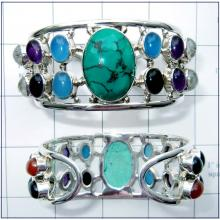 Semi precious gemstone Bangle-JSBN002