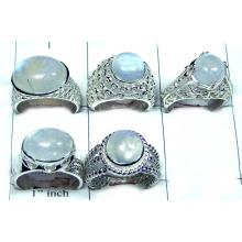 Beautiful Rainbow Moonstone Ring Value Pack-JVR005