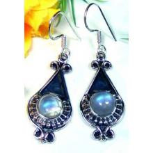 Beautiful Rainbow Moonstone Earrings-LB693