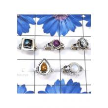 RBS822-Designer 5 Pcs Small Size Ring Wholesale Lot With Semiprecious Gemstone