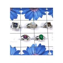 RBS820-Wholesale Lot Designer Small Size 5 Pcs Ring With Multi Cab Gemstone 925 Sterling Silver