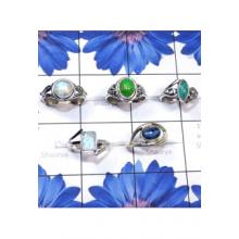 RBS817-Small Size 5 Pcs Designer Ring Multi Cab Gemstone Made In 925 Sterling Silver
