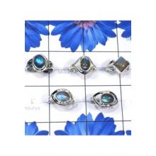 RBS842-Wholesale Lot Labradorite Cab Gemstone With 925 Sterling Silver Handmade 5 Pcs Beautiful Ring