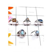 RBS886-Labradorite Cab Gemstone Made In 925 Sterling Silver 5 Pcs Beautiful Rings Wholesale Lot