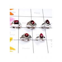 RBS895-5 Pcs Handmade Genuine Cab Garnet With 925 Sterling Silver Wholesale Lot