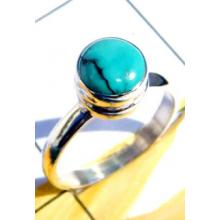 RBS917-Round Cab Gemstone With 925 Sterling Silver Wholesale Lot Small Size Ring