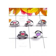 RBS982-925 Sterling Silver Wholesale Lot 5 Pcs Baby Rings Multi Design