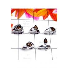 RBS989-Wholesale Lot Small Size Multi Design 5 Pcs Baby Rings With 925 Sterling Silver