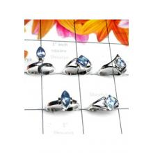 RBS994-Multi Cut 925 Sterling Silver 5 Pcs Baby Ring Wholesale Lot